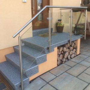 Marmorsplittbelag Treppe